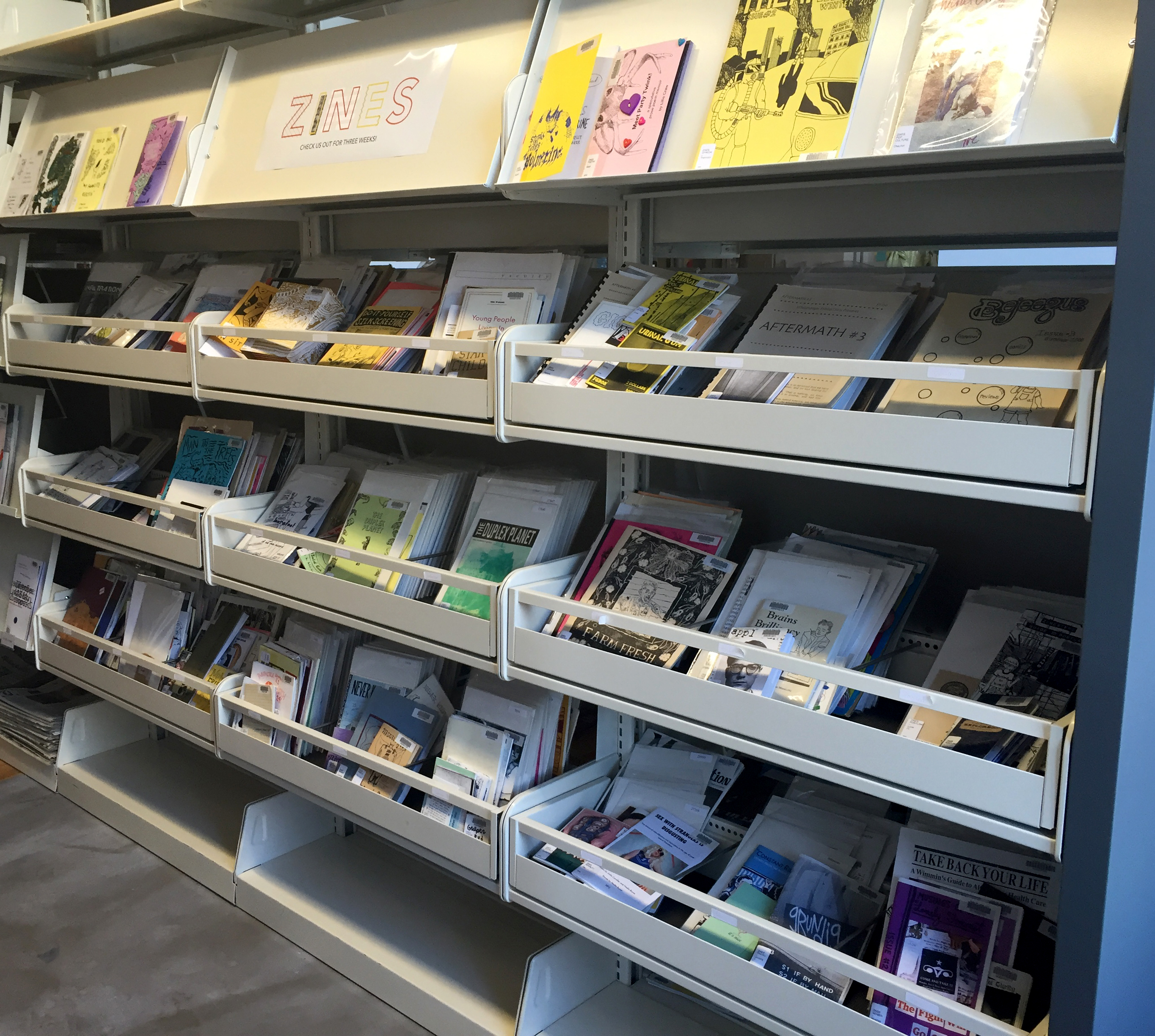 Shelving at the Pacific Northwest College of Art